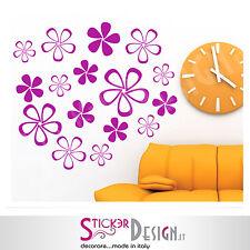 Wall Stickers Adesivi Murali Stickers Floreale Fiori  Adesivo per pareti Fiorato