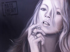 KATE MOSS - Hand OIL PAINTING canvas POP ART SEXY SUPER MODEL JEWELLERY