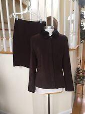 Amanda smith woman skirt Suit Brown perfect winter size 12