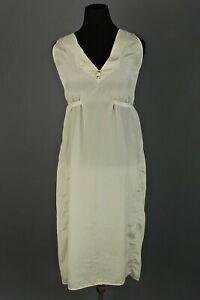 VTG Women's 20s 30s Light Green / White Bias Cut Slip Sz L Dress / Sleepwear