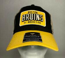 Fanatics NHL Boston Bruins Vintage Hockey EST. 1924 Mesh Back Snapback Hat, New