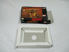 INDIANA JONES ADVENTURE Super Nintendo SNES Authentic Box & Insert NO GAME CART!