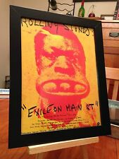 "FRAMED ROLLING STONES ""EXILE ON MAIN STREET"" LP ALBUM CD PROMO AD w/ TOUR DATES!"