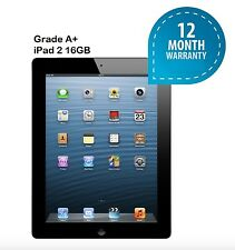 "Apple iPad 2 White 9.7"" inch WiFi 16GB Tablet - Black, Guarantee, Grade AAA"
