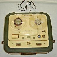 Vintage TELEFUNKEN Magnetofon OLD Beautiful Real Portable WEST GERMANY