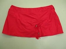 new CATALINA S251 Women's Size L Drawstring Slit Neon Coral Swim Skirt