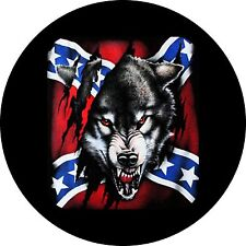 Rebel Wolf 2 Jeep Wrangler Liberty RV Trailer Camper Spare Tire Cover