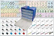COMPLETE HEAVY DUTY TRUCK AC SYSTEM ORING KIT, SEALING WASHERS, CAPS, AND MORE