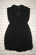 Stylish French Connection Womens Black V-Neck Summer Short/Mini Dress Size UK 8