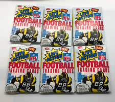 1986 Fleer Action Football Unopened pack lot of six (6)