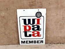 1950s Vintage Double Sided Enamel Sign WIPATA Member Photography Adv Collectable