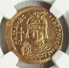 More details for maurice tiberius ngc ch au byzantine empire antioch gold solidus 582 - 602 ad