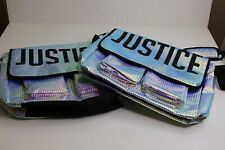 Justice 2 messenger bag iridescent holo