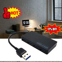 4 Port Ultradünner USB 3.0 Hub 5 Gbit / s tragbarer Kompakt-PC Laptop Notebook