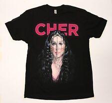 Cher - D2K Tour - Unisex Small Black Concert T-Shirt Graphic Tee