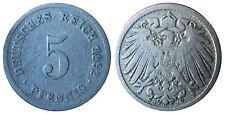 J 12   5 Pfennig  1892 J G in SS