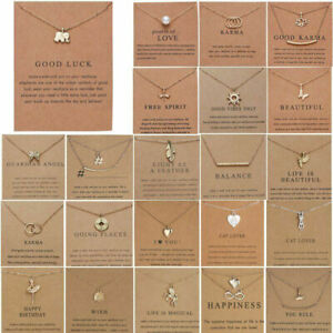 Women Lady Necklace Pendant Gold Clavicle Chains Choker Fashion Jewelry Gifts