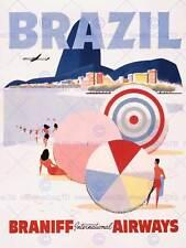 Travel tourism brésil rio Sugarloaf copacabana new art print poster CC4391