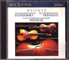 Jascha Heifetz: Brahms Mozart Bach Double Concerto Piatigorsky Primrose CD RCA