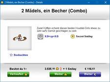 Knuddels.de-Smiley: 2 Mädels, ein Becher (Combo)