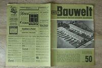 NEUE Bauwelt Zeitschrift Bauwesen Heft 50 10.12.1951 Architektur Stufenbau ++