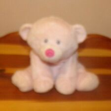 """Ty Pluffies Super Soft Plush Bear AMORE ~ 8"""" Pink ~ Lovey Toy"""