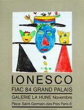 Eugène IONESCO (1912-1994) Lithographie Lithograph Affiche d'Art Poster