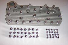 Chrome acorn nut covers, Flathead Ford, both cyl head and intake