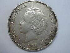 1893 *18-93 PGV ALFONSO XIII 5 PESETAS SPAIN SPANISH