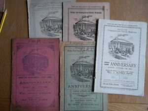 BRIGHOUSE Bridge End CONGREGATIONAL CHURCH - Anniversary Hymn sheets 1916 -1936
