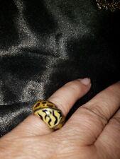 Sterling 925 Animal Print Ring