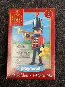 NIP Playmobil 5957 TOY SOLDlER w/ Bugle FAO 150th Anniversary NEW Christmas MIB!