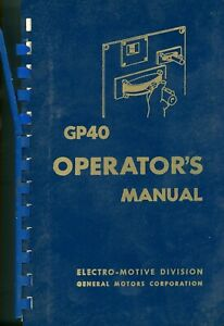 RR GP40 Operating Manual