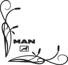 Man Truck window Sticker