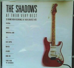 AS NEW; THE SHADOWS,,,,AT THEIR VERY BEST CD. C MY OTHER SHADOWS CD'S  TERRIFIC.