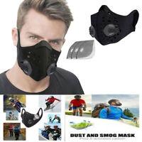 Máscara de boca negra Máscara de algodón unisex Máscara de anime para ciclismo