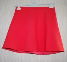 J.Crew Red Polyester Mini Lined Skirt Size:2