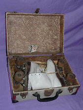 Vintage Antique Roller Skates Derby w/ Wooden Wheels w/ Gateway Arch Travel Case