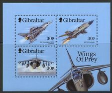 Wings of Prey mnh souvenir sheet 1999 Gibraltar planes fighter jets