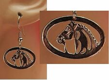 Silver Horse Charm Drop/Dangle Earrings Handmade Jewelry Hook NEW Fashion