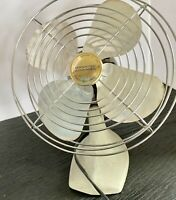 "Vintage Manning Bowman Metal Industrial 8"" Desk Fan Model #31 Antique Rare Works"