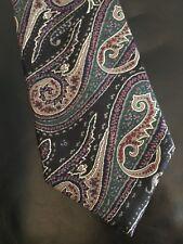 Oscar De La Renta Paisley 100% Silk Couture Collection Men's Tie
