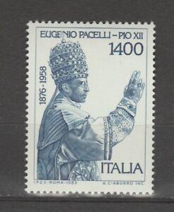 s37300 ITALIA MNH** 1983 Eugenio Pacelli Papa Pio XII 1v