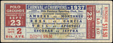 CARNIVAL OF CHAMPIONS ORIGINAL FULL TICKET (1937-AMBERS, ROSS, THIL, GARCIA)