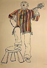 Vintage Bob Hamilton S/N Lithograph Guitar/Folk Singer #32/11 (1969)
