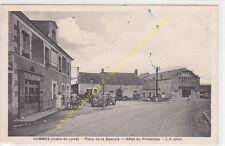 CPA 37340 HOMMES Place la Bascule Hôtel du Printemps & Tabac animé Edit CHRETIEN