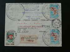 registered cover first flight Tunisia Amsterdam KLM 1959