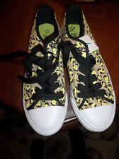 Women's Size 7 Lime, Black & White Safari Print Tennis Shoes NWT