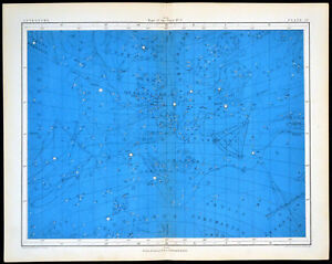MAPS OF THE STARS #3 1856 Alex Johnston ANTIQUE CHART