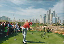 Alvaro QUIROS SIGNED Autograph 12x8 Photo AFTAL COA Dubai GULF Golf WINNER